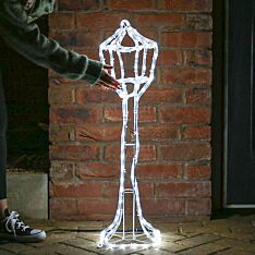 83cm Outdoor Lamp Post Rope Light Christmas Silhouette, 144 White LEDs