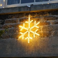 45cm Rope Light Snowflake Silhouette, Connectable, 144 Flash Bulb LEDs