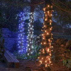 ConnectPro Outdoor LED String Lights, Connectable, White Rubber Cable