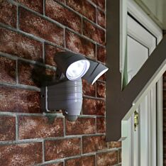 Outdoor Battery Operated Security Light with PIR Sensor
