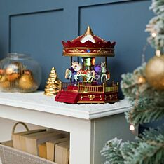 25cm Battery Musical Carousel, Colour changing LEDs