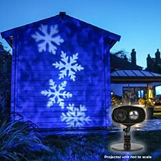 Outdoor Snowflake Projector, White LEDs