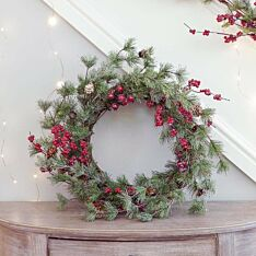 58cm Red Berry Christmas Wreath
