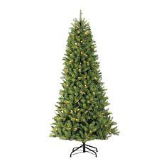 6.5ft Pre Lit Slim Kensington PE Christmas Tree, 200 Warm White LEDs