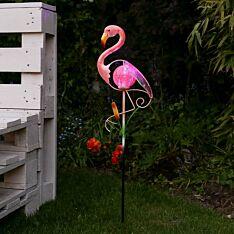 Solar Garden Flamingo Stake Light, 80cm