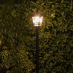 Solar Filament Effect LED Security Lamp Post, 2.1m