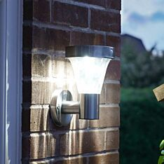 Solar Stainless Steel Security Wall Light with PIR