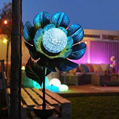 Solar Flower Rotating Stake Light