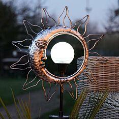 Solar Sun & Moon Rotating Stake Light