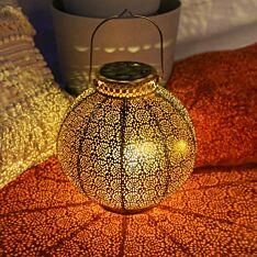 Solar Antique Brass Moroccan Lantern