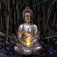 Solar Antique Brass Buddha Light