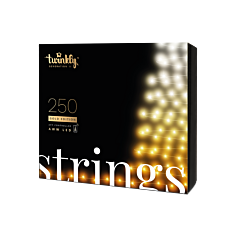 20m Smart App Controlled Twinkly Christmas Fairy Lights, Gold Edition - Gen II