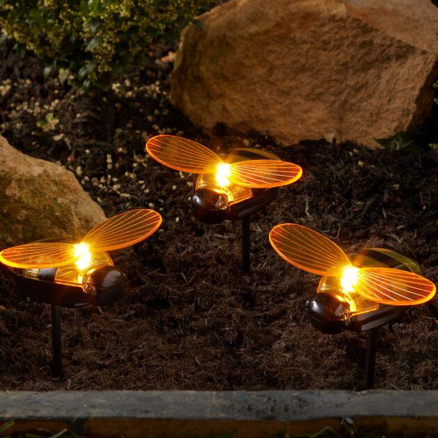 Solar Bee Stake Light, 6 Pack