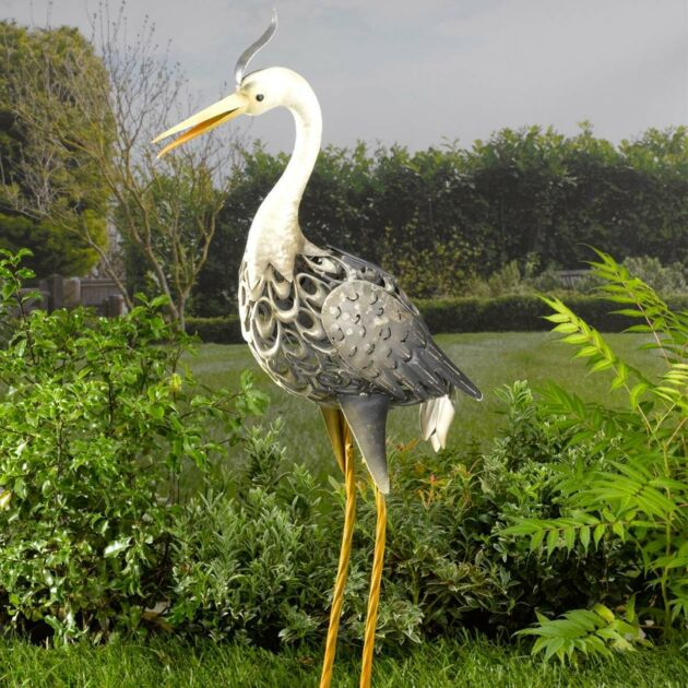 Solar Novelty Heron Light