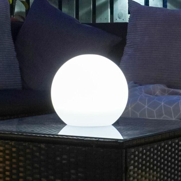 Solar and USB Lunière Round Orb Lantern