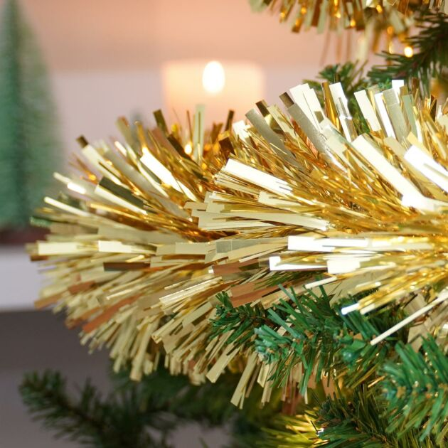 2m x 100mm Chunky Cut Tinsel - Gold