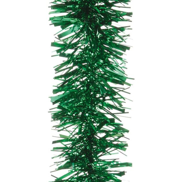 Green Chunky Tinsel Christmas Tree Decoration, 2m (L) x 10cm (D)