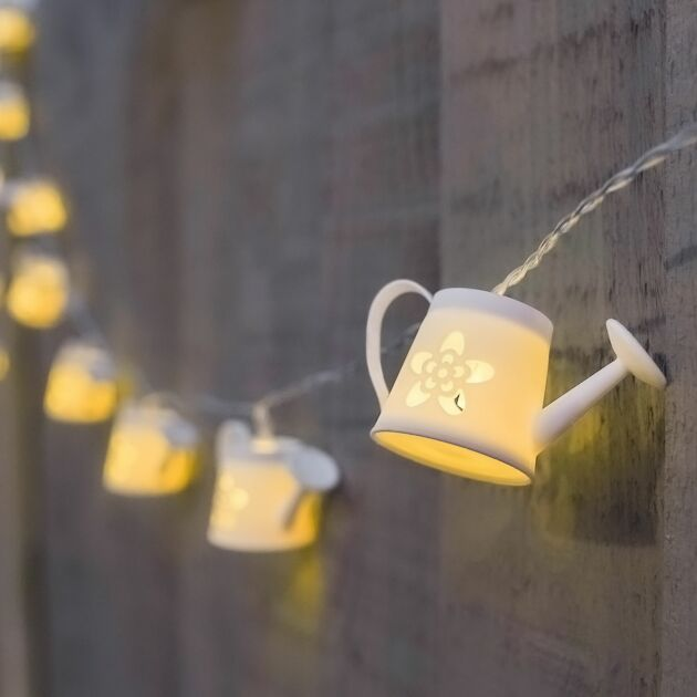 Solar Watering Can Fairy Lights