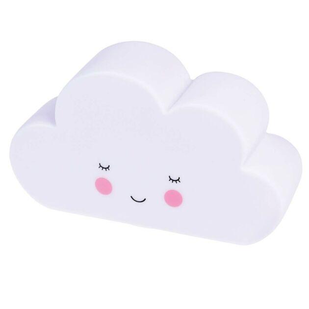 Battery Cloud Children's Night Light, White LED