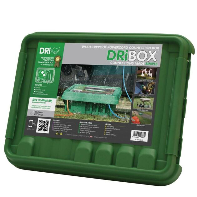 Dribox Large Weatherproof Connection Box Green Edition