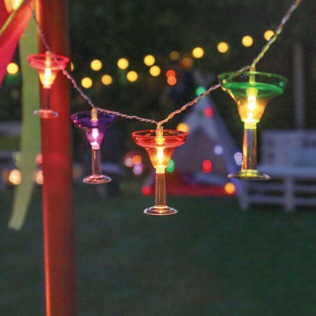 Battery Martini Glass Cocktail Party Indoor Fairy Lights, 1.8m