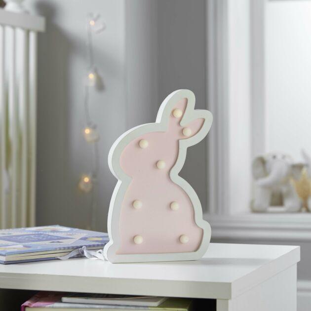 Battery Wooden Bunny LED Night Light, 24cm