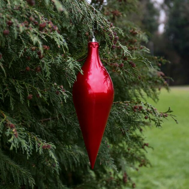 30cm Large Outdoor Commercial Christmas Tree Teardrop Bauble