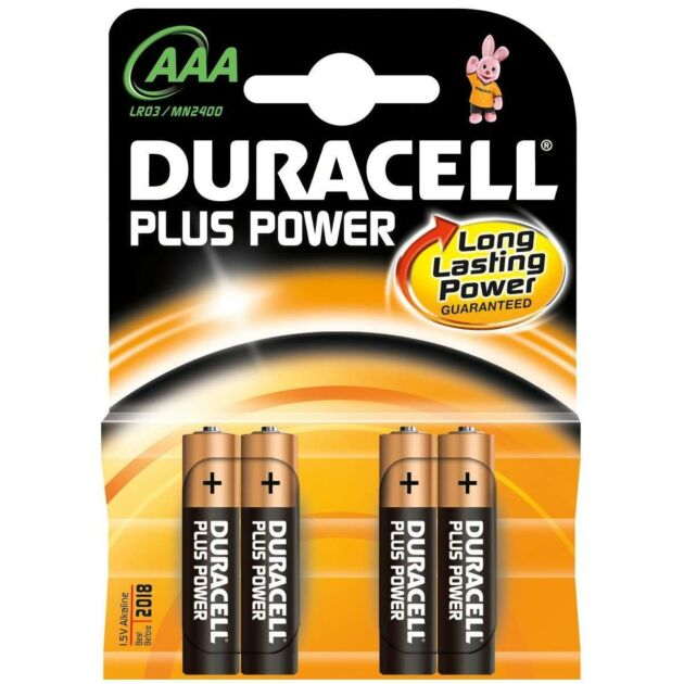 Duracell Alkaline Batteries - AAA Pack of 4