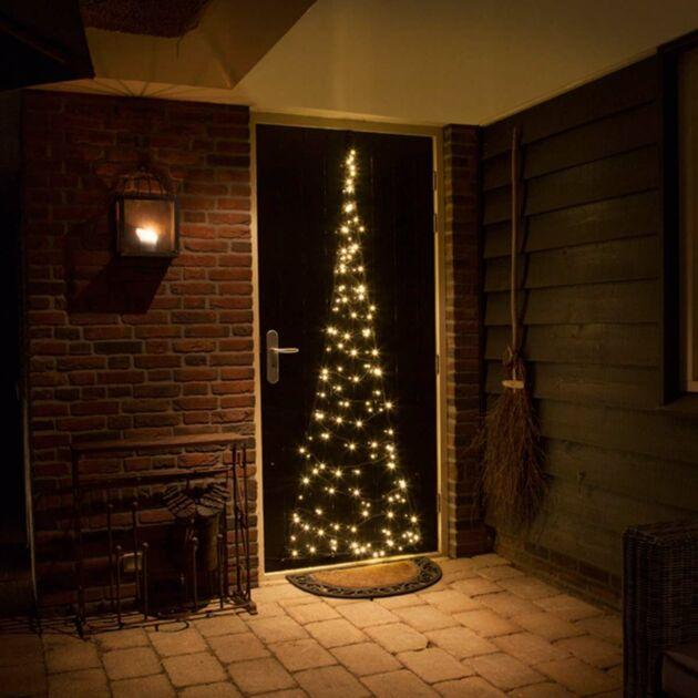 2.1m FairyBell Illuminated Door Tree, 120 Warm White LEDs,