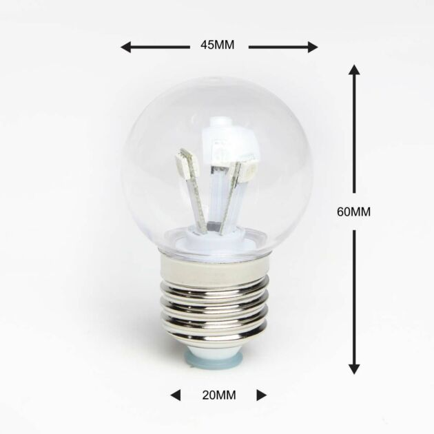 FestoonPro E27 LED High Power Coloured Festoon Bulb