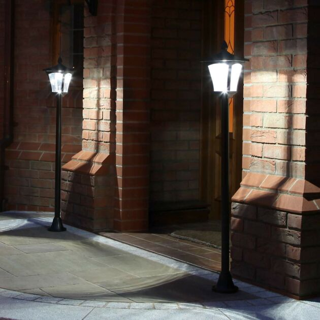 Solar Security Lamp Post, 1.2m, 2 Pack