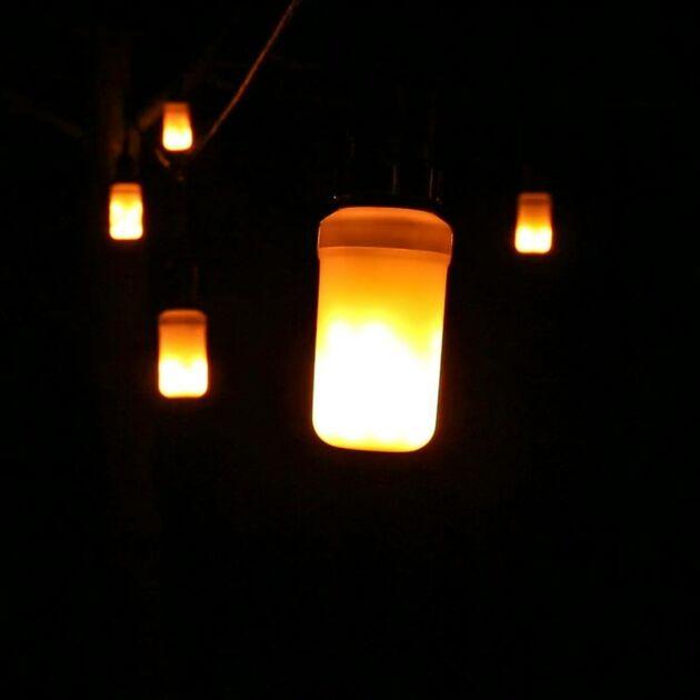 E27 Flame Effect Bulb, Warm White LED