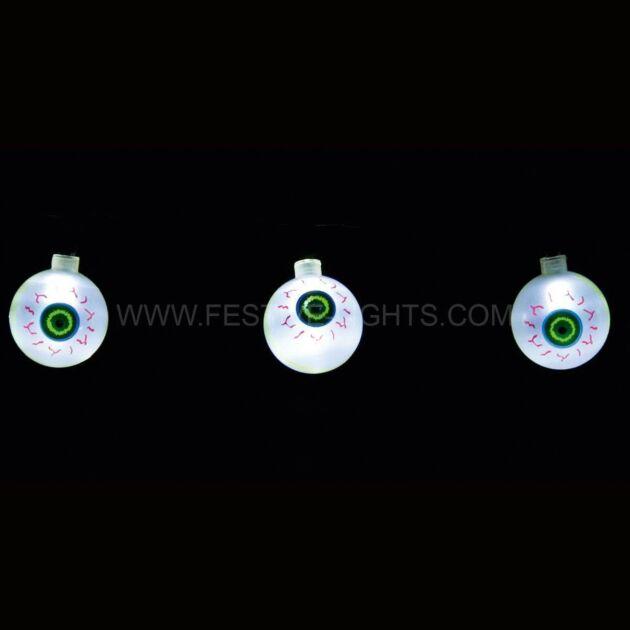 1.3M Battery Eye Ball Halloween Party Fairy Lights, 10 White LEDs