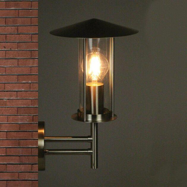 Utah 230V Wall Light In Stainless Steel