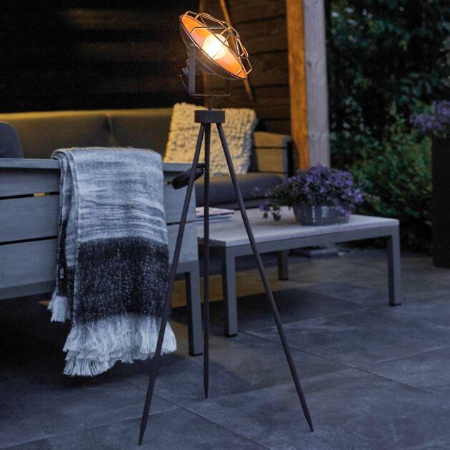 Solar Copper Cage Industrial Tripod Studio LED Light
