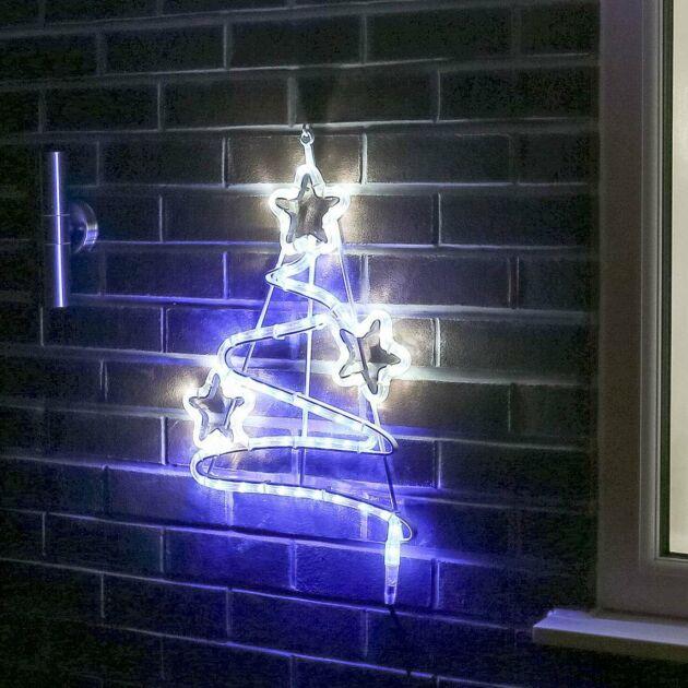50cm Aluminium Outdoor Rope Light Christmas Tree Motif, Twinkle LEDs