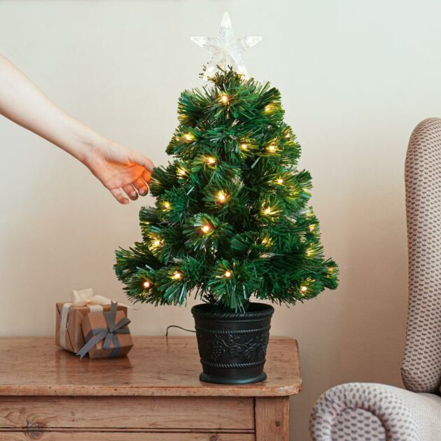 Green Fibre Optic Christmas Tree with Remote Control