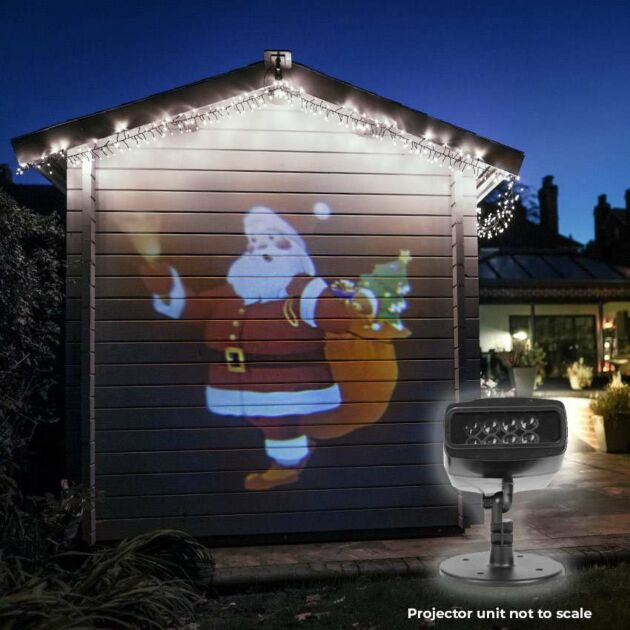 Outdoor Christmas Musical Santa & Snowman Animated Projector