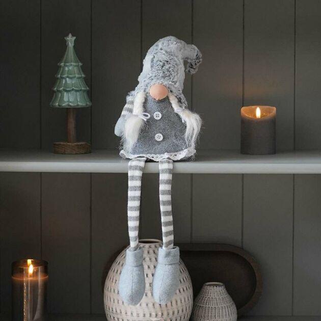 70cm White and Grey Female Sitting Gonk