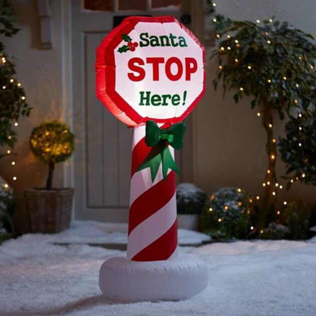 1.2m Inflatable LED Santa Stop Sign