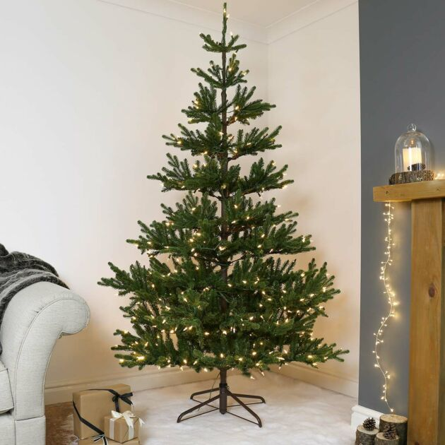 7ft Pre Lit Green Real-Feel Imperial Spruce Artificial Christmas Tree