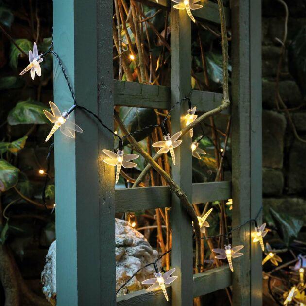 Solar Powered Multi Function LED Dragonfly Fairy Lights