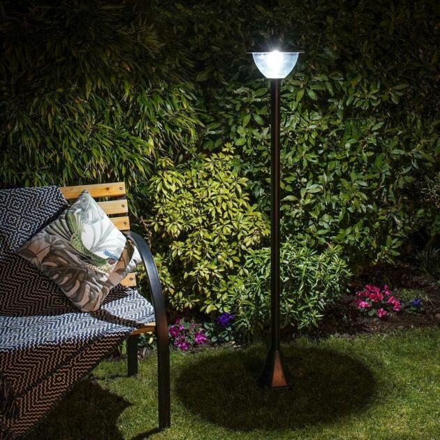 Solar Dome Security Lamp Post, 2.1m
