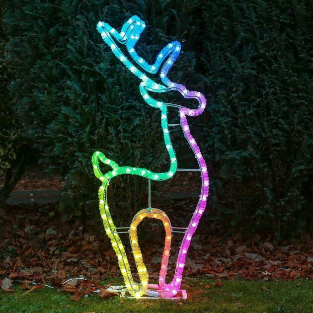 1m Smart App Controlled Twinkly Outdoor Reindeer Silhouette