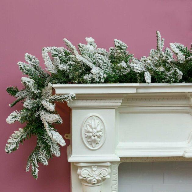 1.8m Snow Effect Christmas Garland