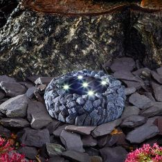 Solar Rock Ground Up Light