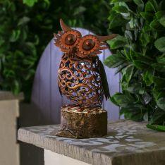 Solar Novelty Owl Light