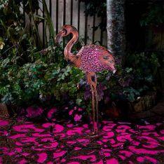 Solar Novelty Flamingo Light