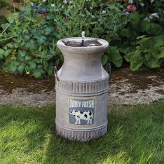 Solar Milk Churn Water Feature