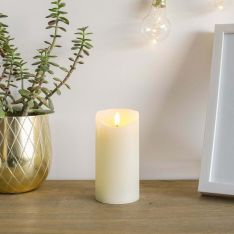 Ivory Battery Real Wax Authentic Flame LED Candle, 15cm